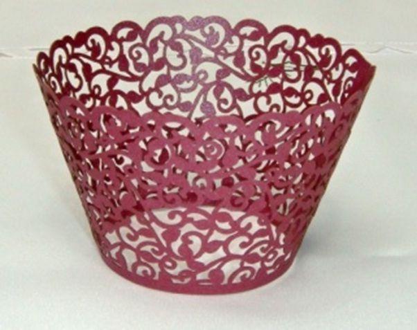 Košíček na muffin, cup cake A - purpurová - 12ks