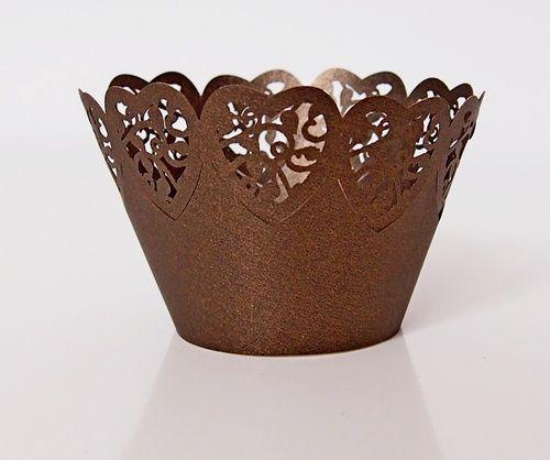 Košíček na muffin, cup cake- tmavě hnědá- 12ks