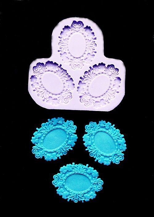 Silikonová formička - oválný ornament/medailonek