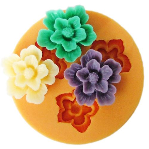 Silikonová formička - květy