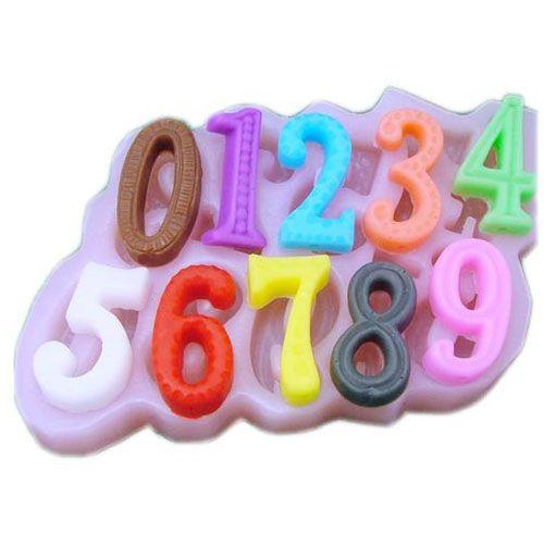 Silikonová formička - čísla
